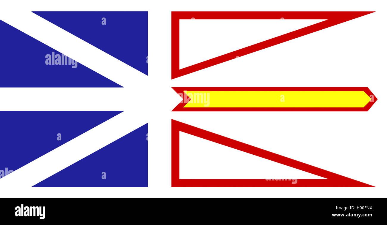 Flagge von Neufundland und Labrador, Neufundland | flag of Newfoundland and Labrador, Newfoundland | BLWS419245.jpg - Stock Image