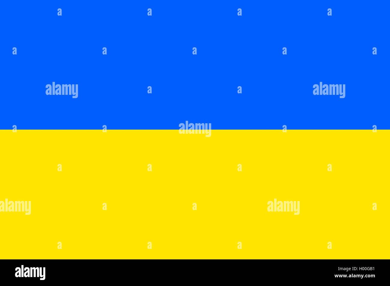 Flagge der Ukraine, Ukraine | flag of Ukraine, Ukraine | BLWS419570.jpg [ (c) blickwinkel/McPHOTO/K. Steinkamp Tel. - Stock Image