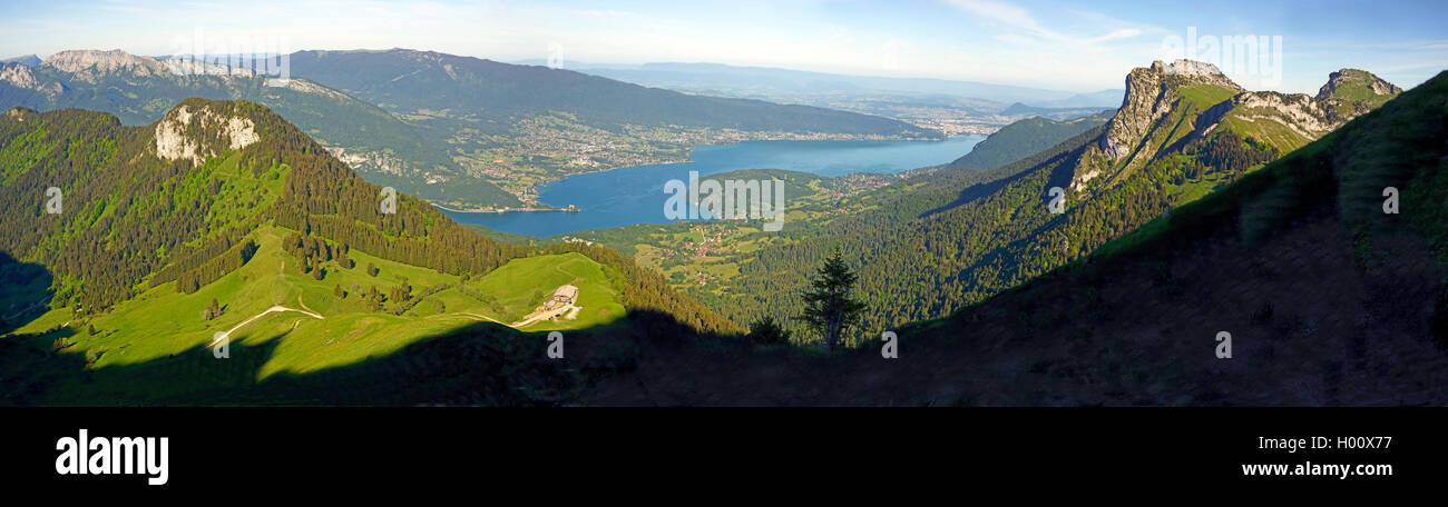 Lake Annecy in the French Alps, France, Haute-Savoie, Annecy Stock Photo