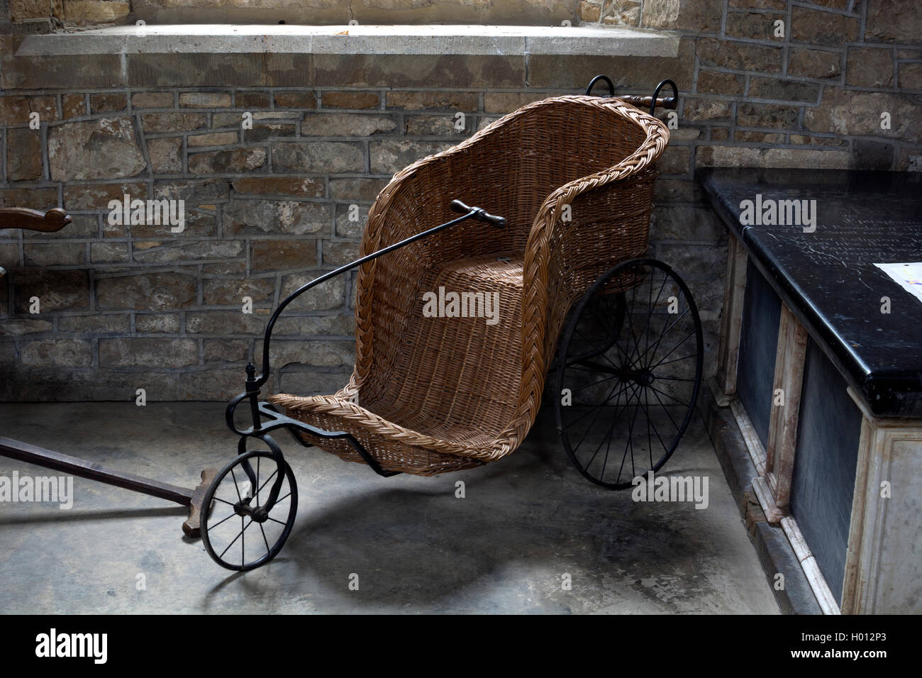 An Old Wicker Bath Chair In St George S Church Brailes