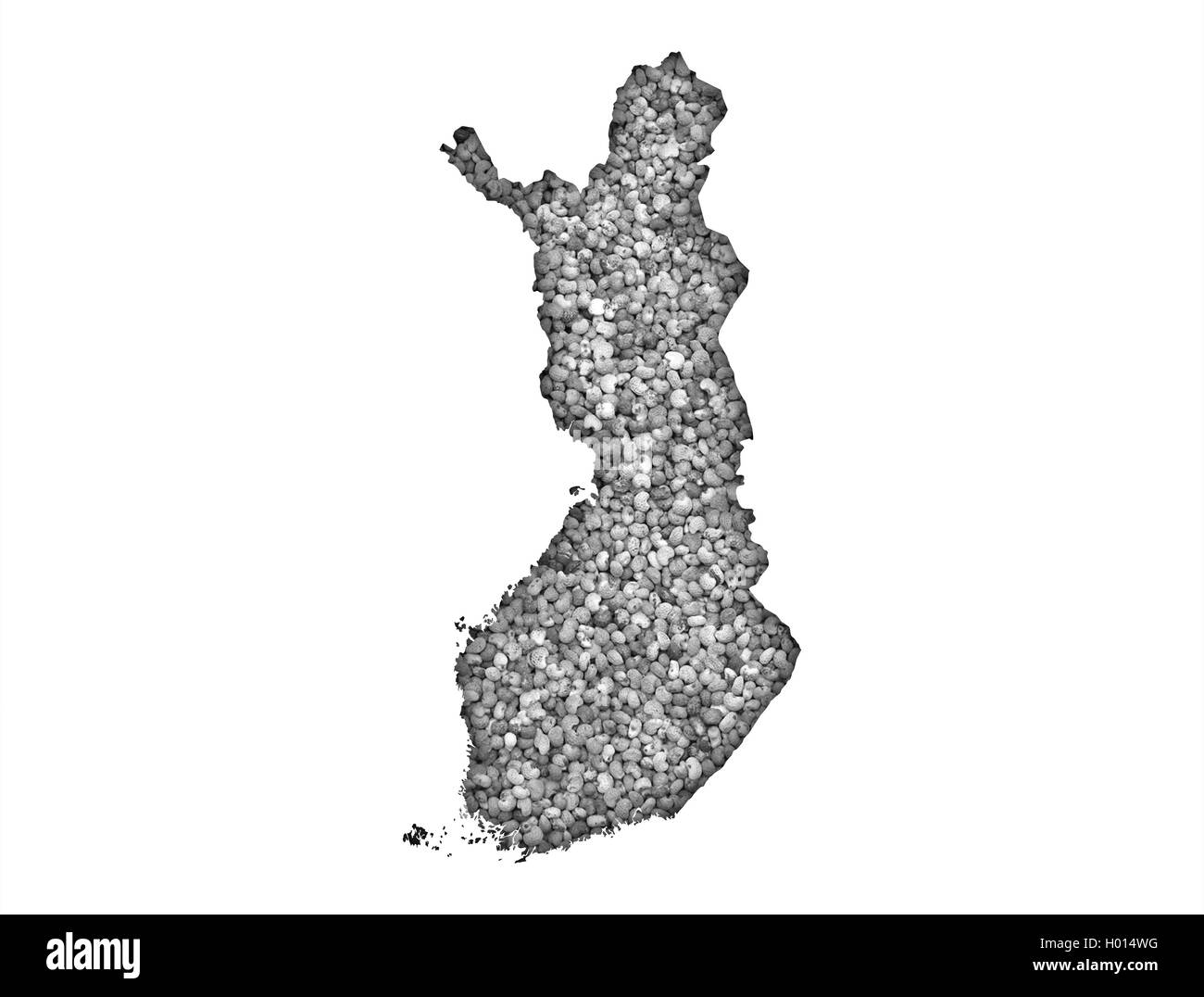 Outline Map Of Finland Stock Photos & Outline Map Of Finland ...