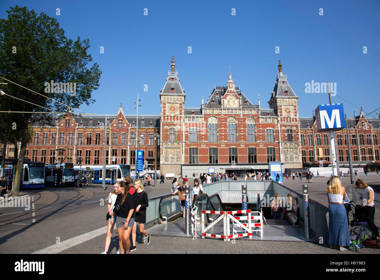 Amsterdam Centraal Station - Stock Image