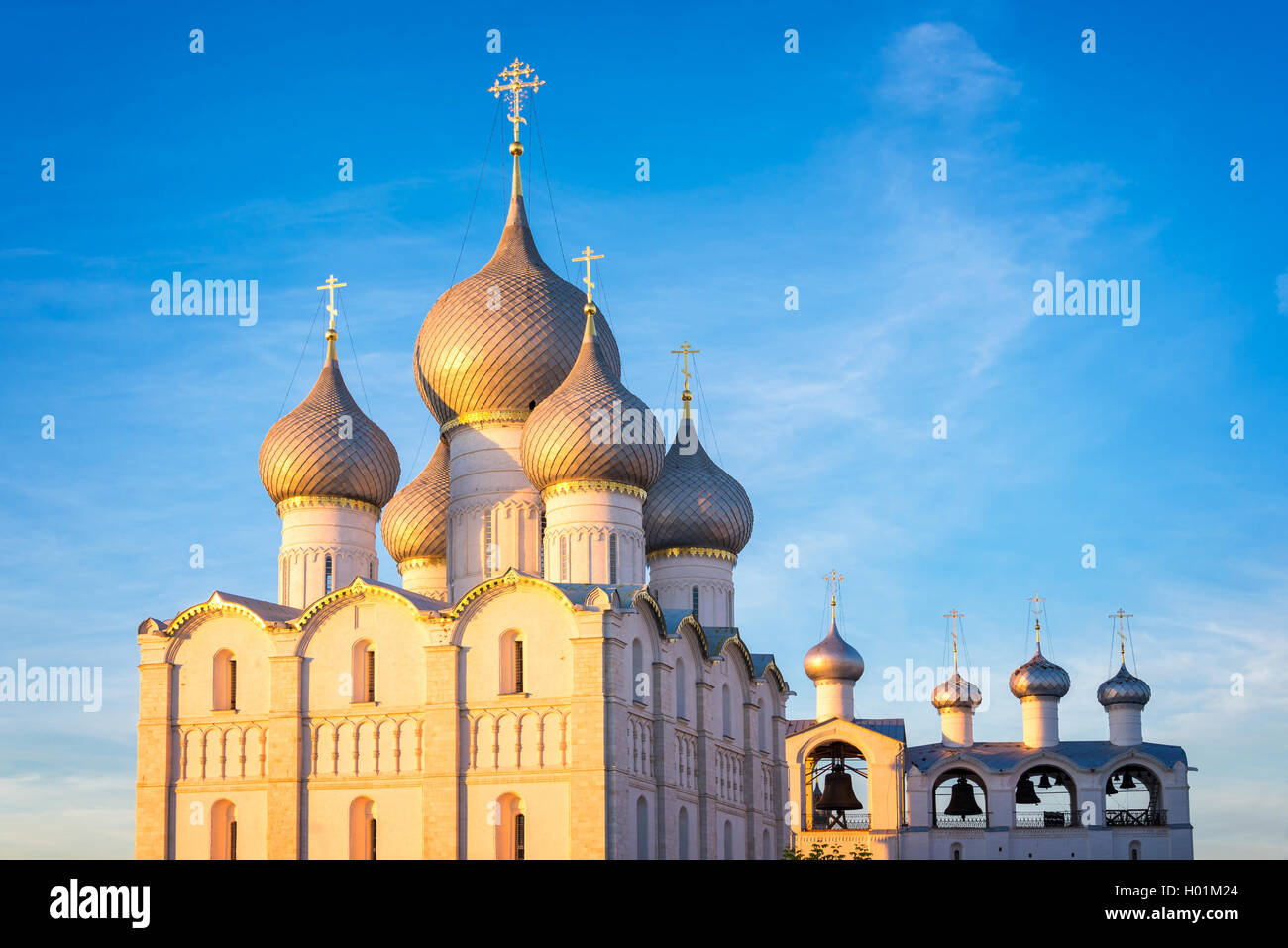 Rostov kremlin, Assumption cathedral, Golden Ring, Russia - Stock Image