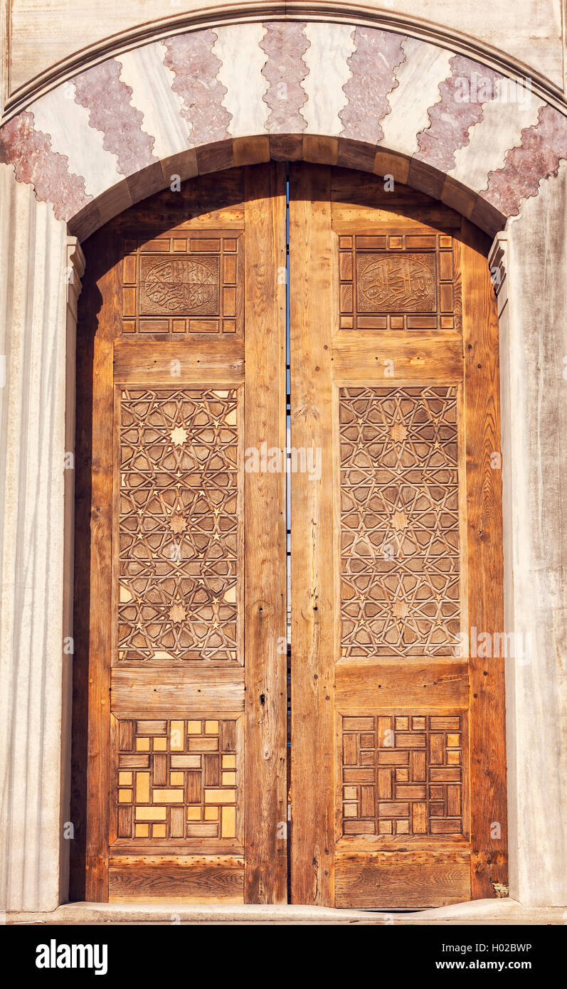 Superieur Image Of Ornate Mosque Door. Istanbul, Turkey.   Stock Image