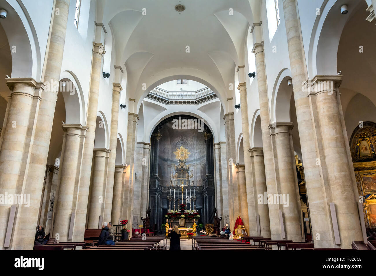 Interior of Turin Cathedral (Duomo di Torino), built in 1470. - Stock Image