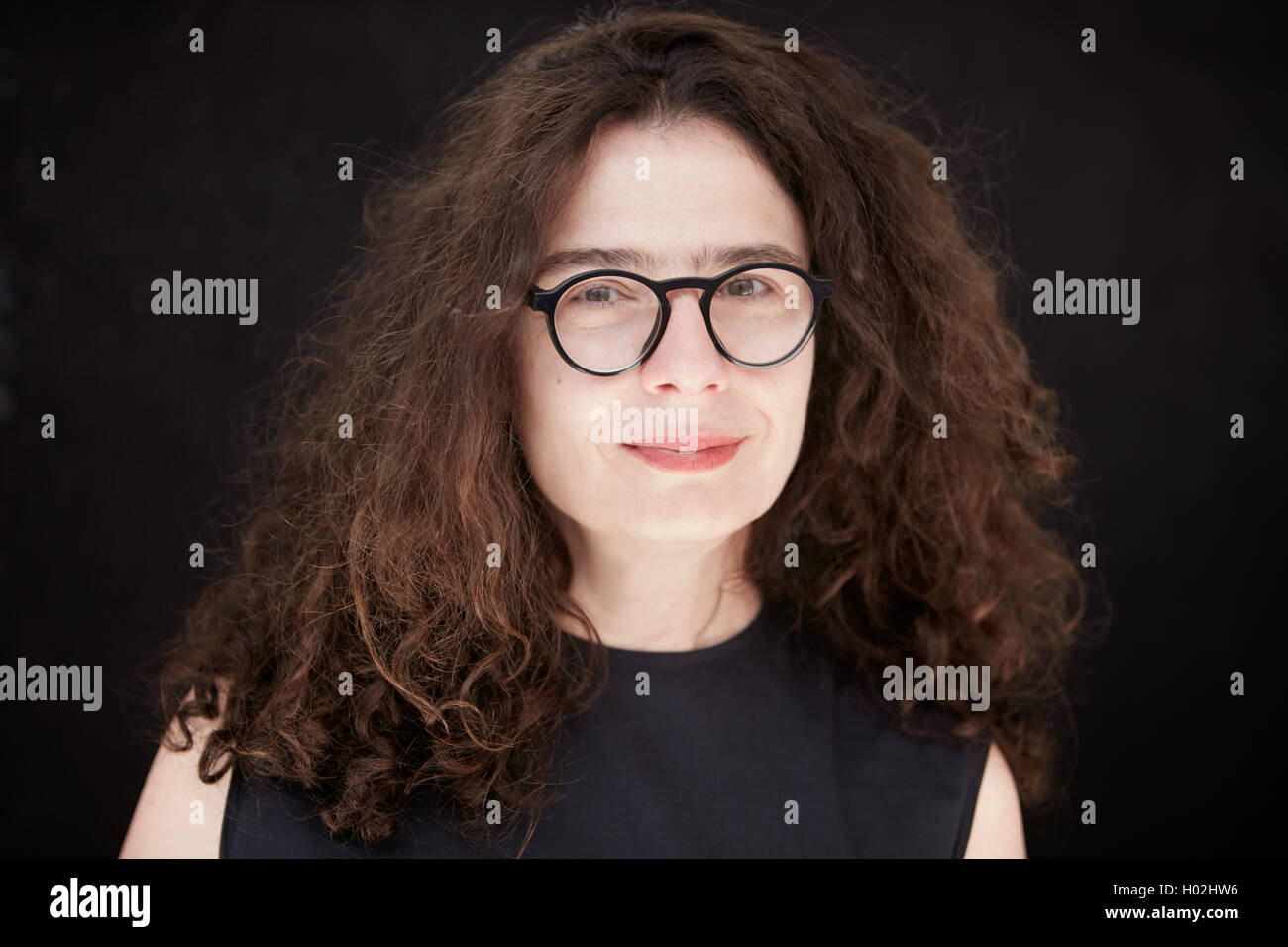 Arsinée Khanjian, actress and film producer, seen during festival in Italy on July 2016 - Stock Image