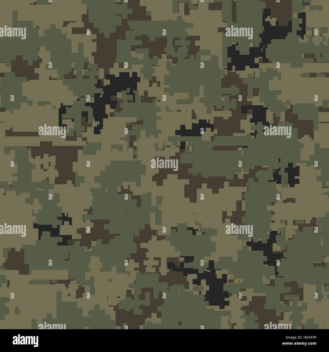Digital camouflage seamless patterns - Stock Image