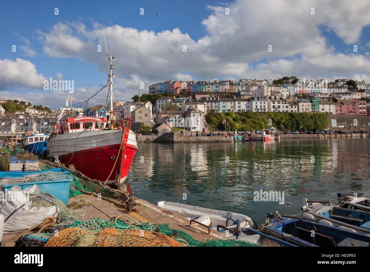 Brixham harbour, Devon, England - Stock Image