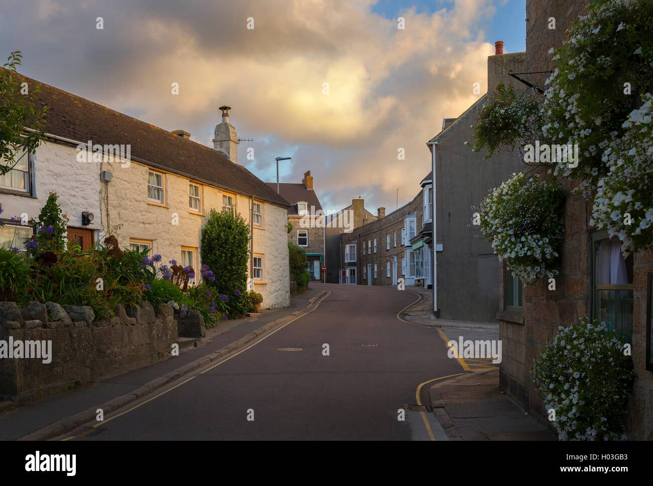 Hugh Town, St Mary's, Isles of Scilly, England - Stock Image