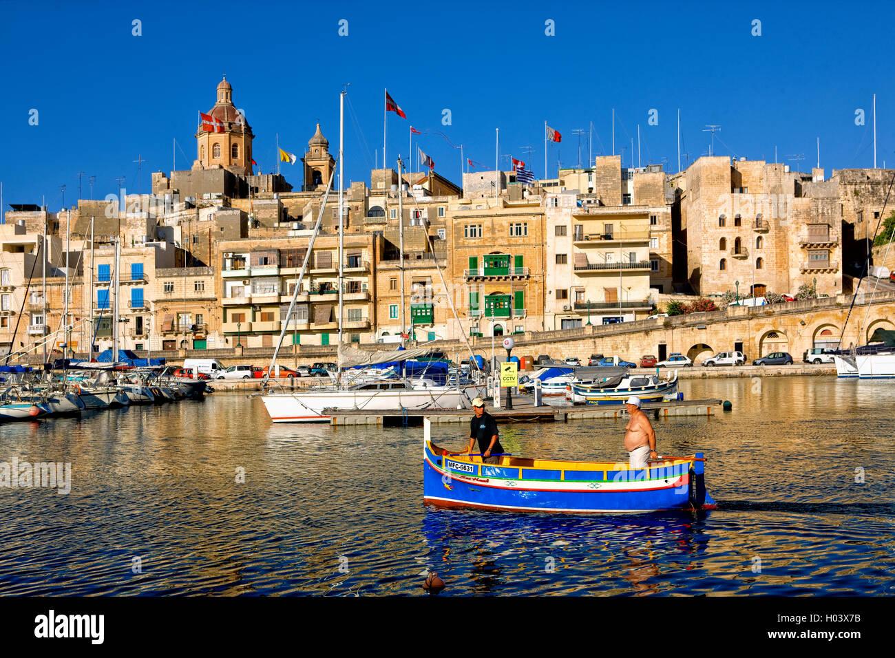 Vittoriosa harbour  in Valletta, Malta - Stock Image