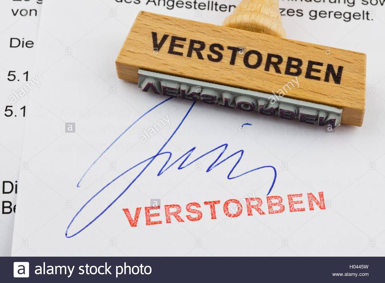 Sterben Tot Stock Photos & Sterben Tot Stock Images - Alamy