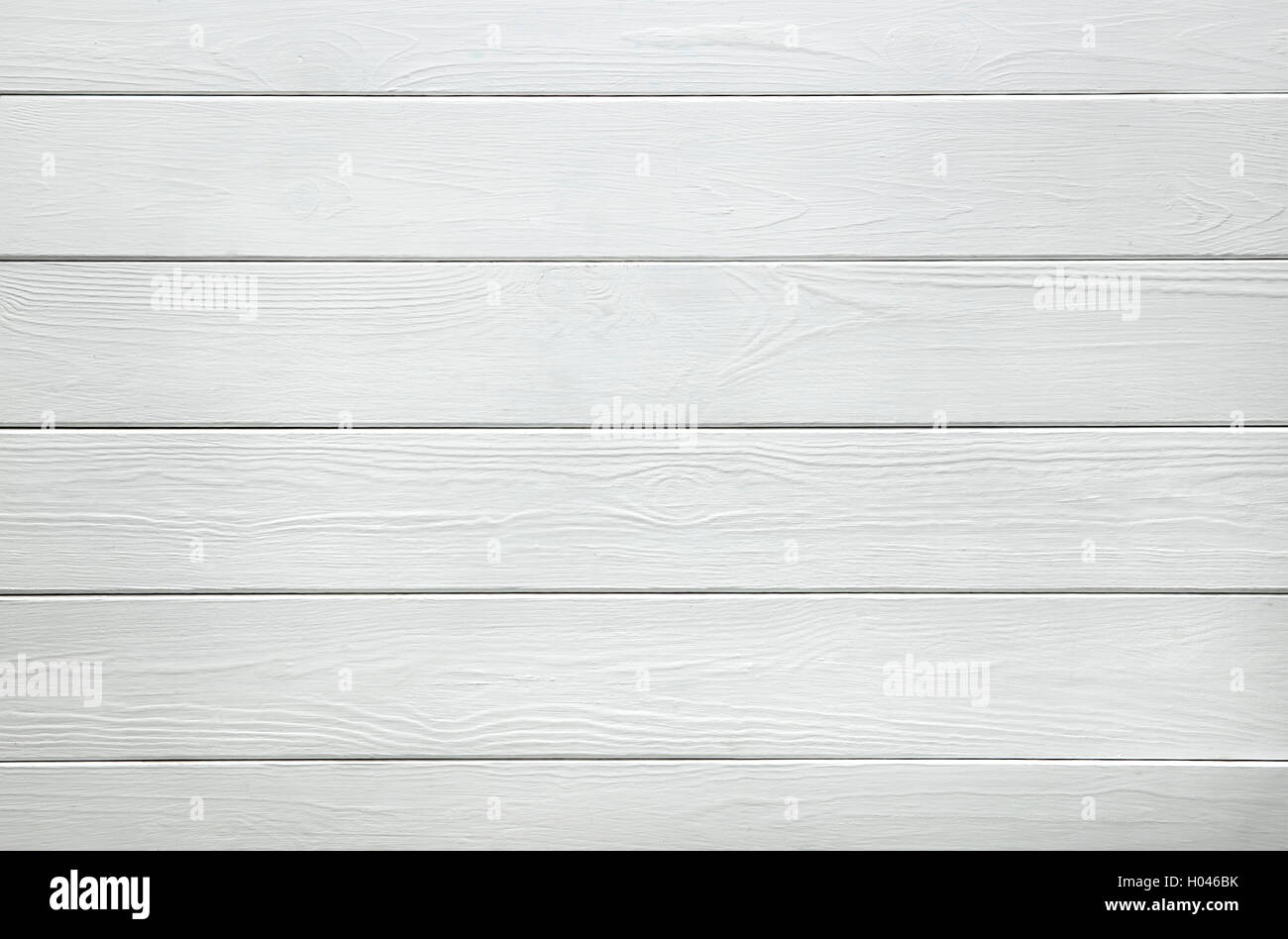 White wood texture of planks - Stock Image