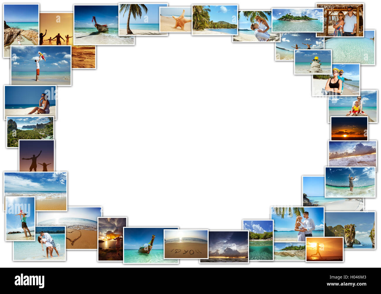 Tropical photos concept collage people Stock Photo