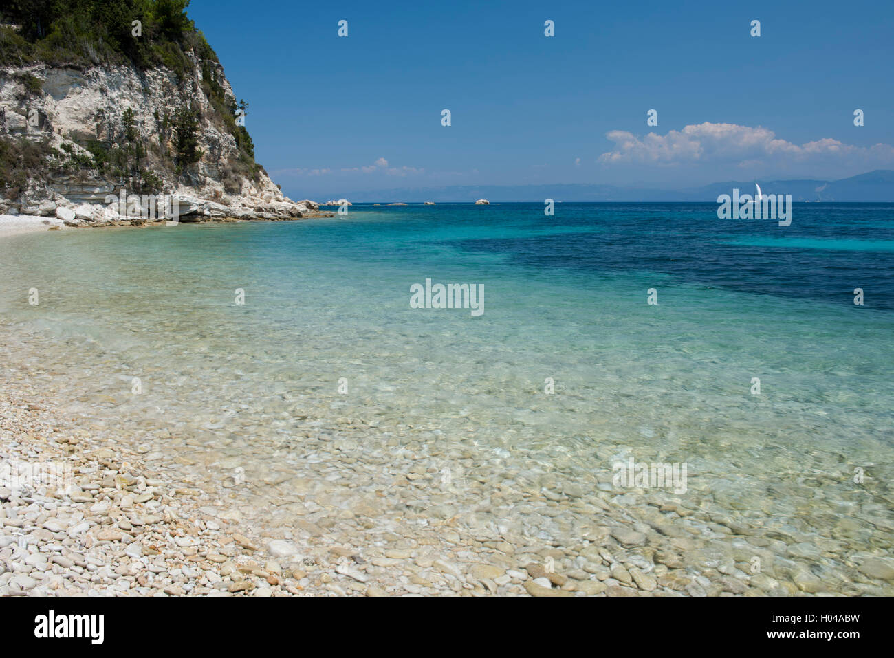 Paxos, The Ionian Islands, Greece, Europe - Stock Image