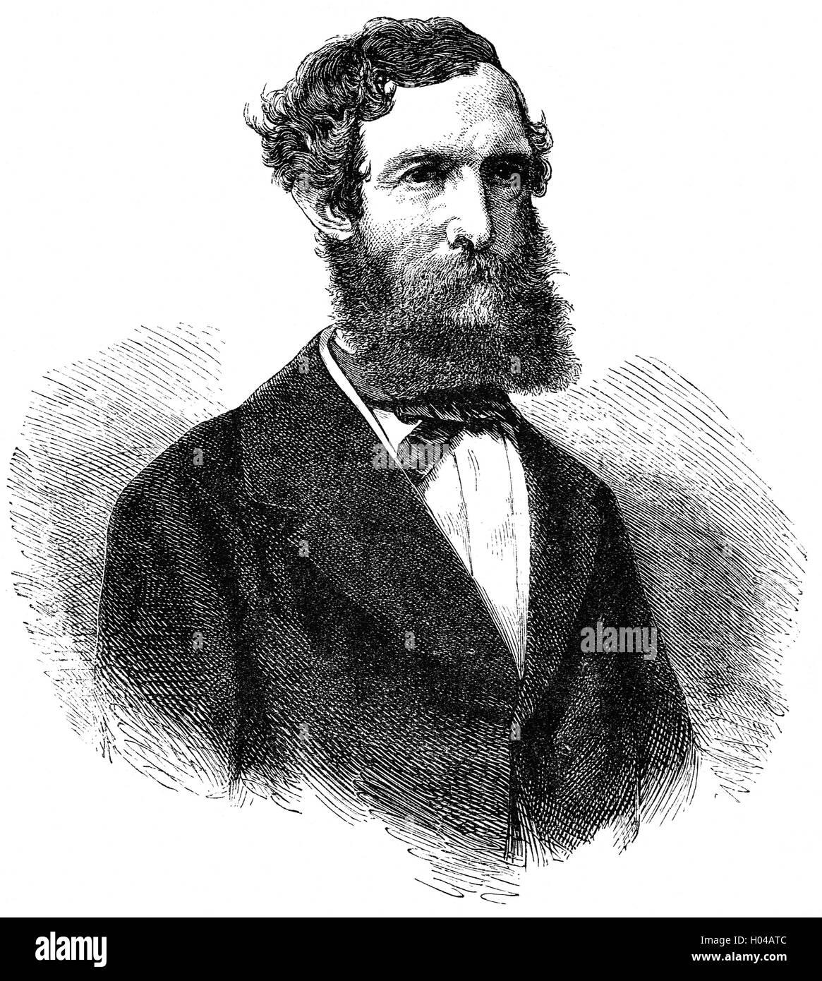 Major General Sir John Eardley Wilmot Inglis (1814 – 1862) was a British Army officer, born in Nova Scotia, Canada, - Stock Image