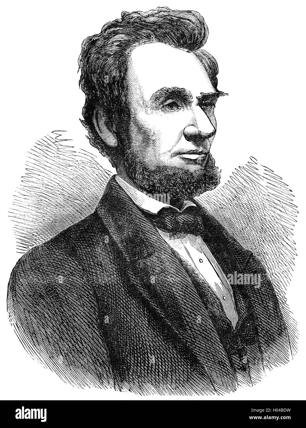 Abraham Lincoln (1809 – 1865), American politician and lawyer who served as the 16th President of the United States - Stock Image
