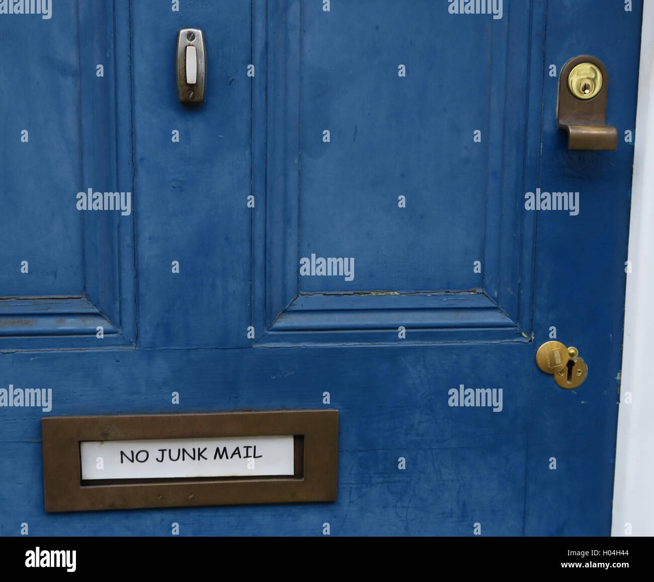 No Direct Junk Mail Please, in my letterbox - Stock Image