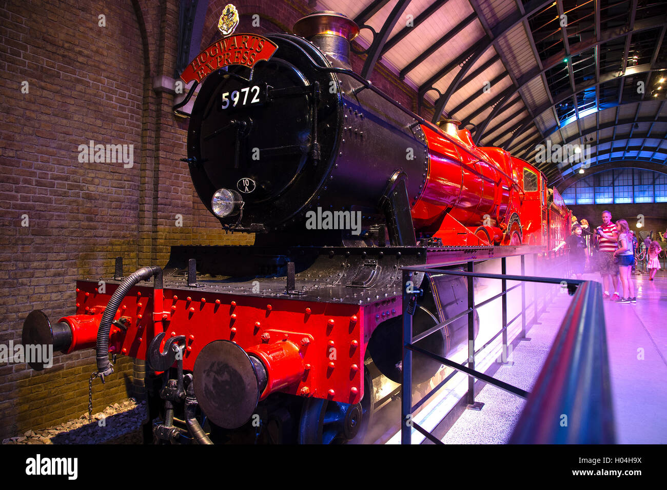 Hogwarts express train, Warner Brothers Studio Tour, The Making of Harry Potter, London Stock Photo