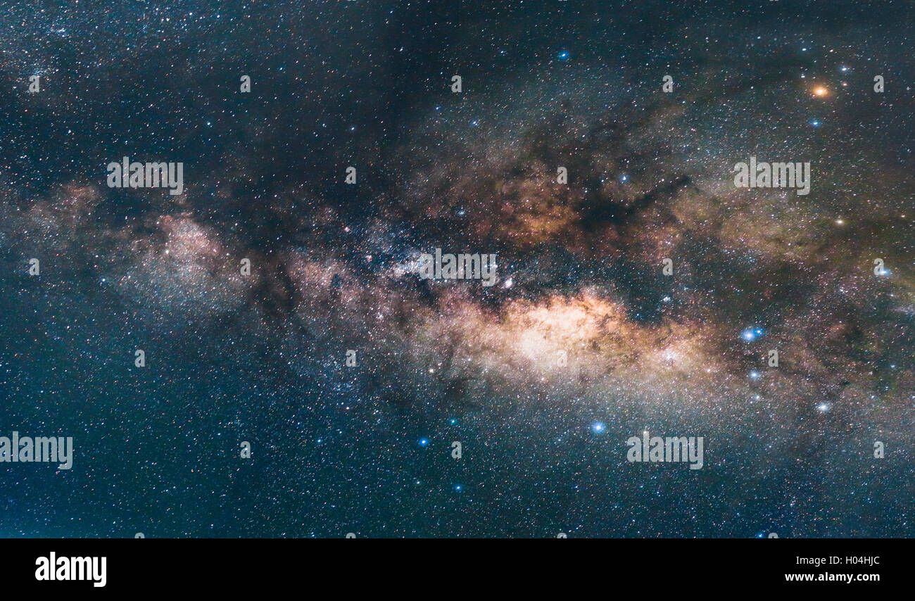 The Milky Way galaxy. - Stock Image