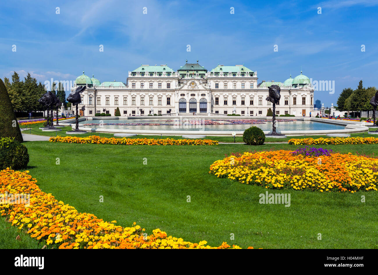 The Oberes Belvedere, summer palace of Prince Eugene of Savoy, Vienna, Austria - Stock Image