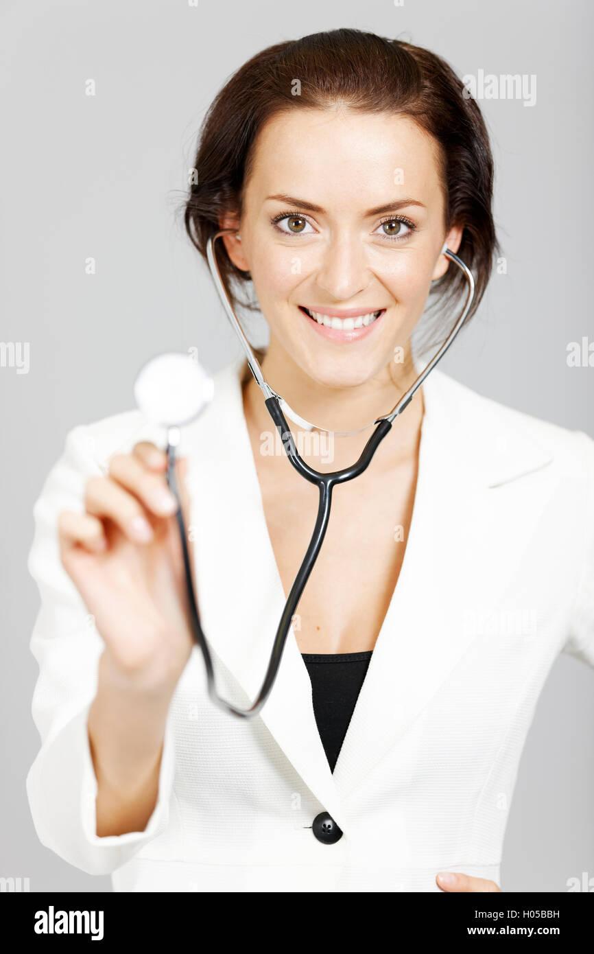 Professional female Doctor - Stock Image