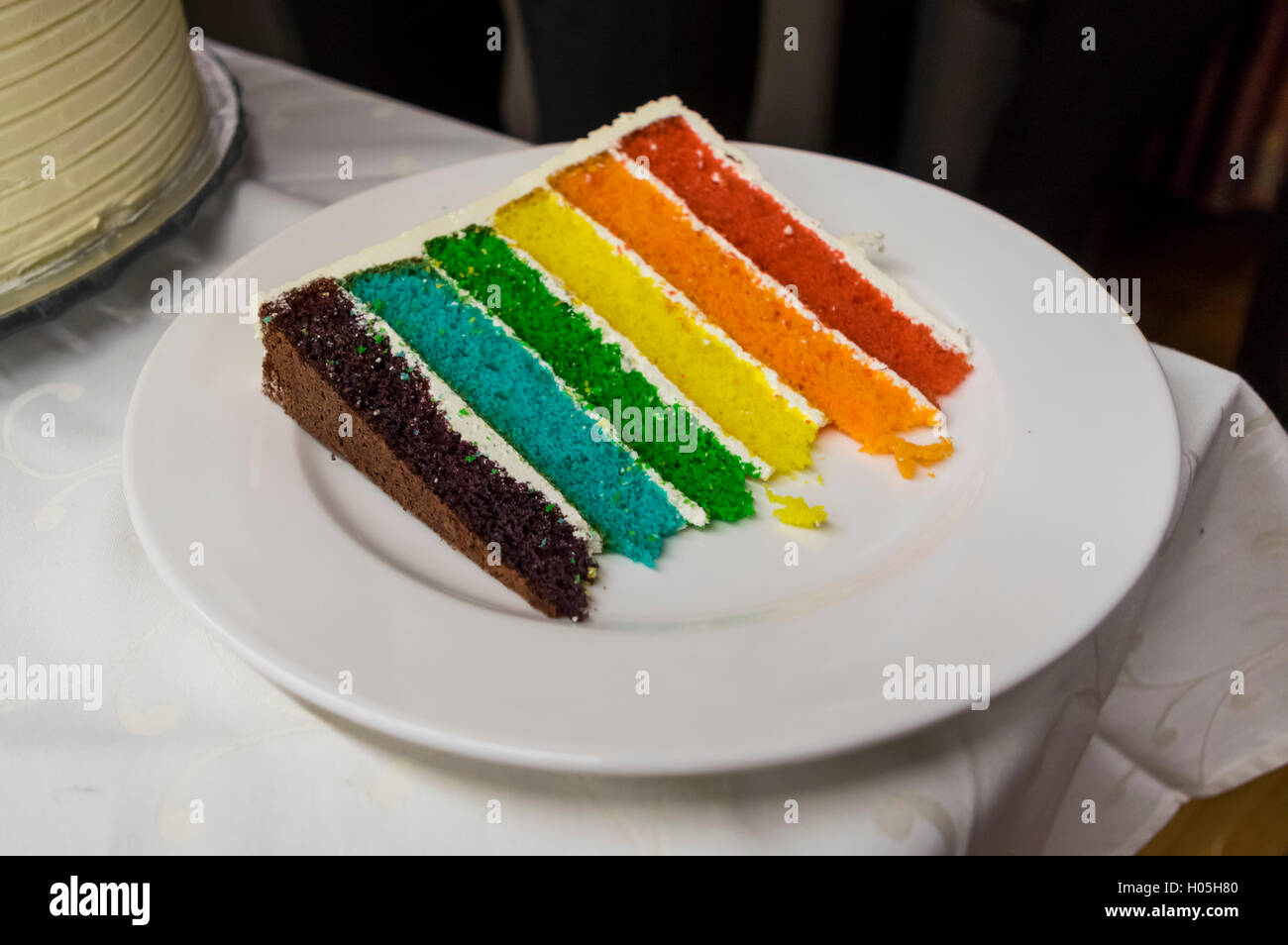 Slice Of A Rainbow Cake Inspired By Kaitlin Flannery And The Martha Stewart Show