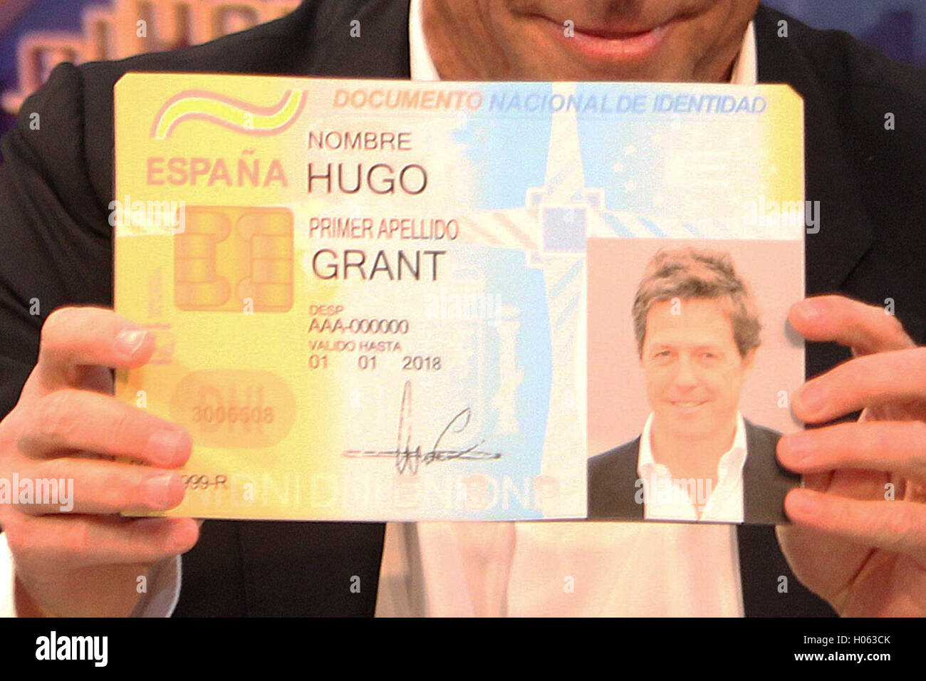 Grant Stock During 120606995 Madrid Hugh September Photo - Actor Alamy A Visit 19th 2016 Spain