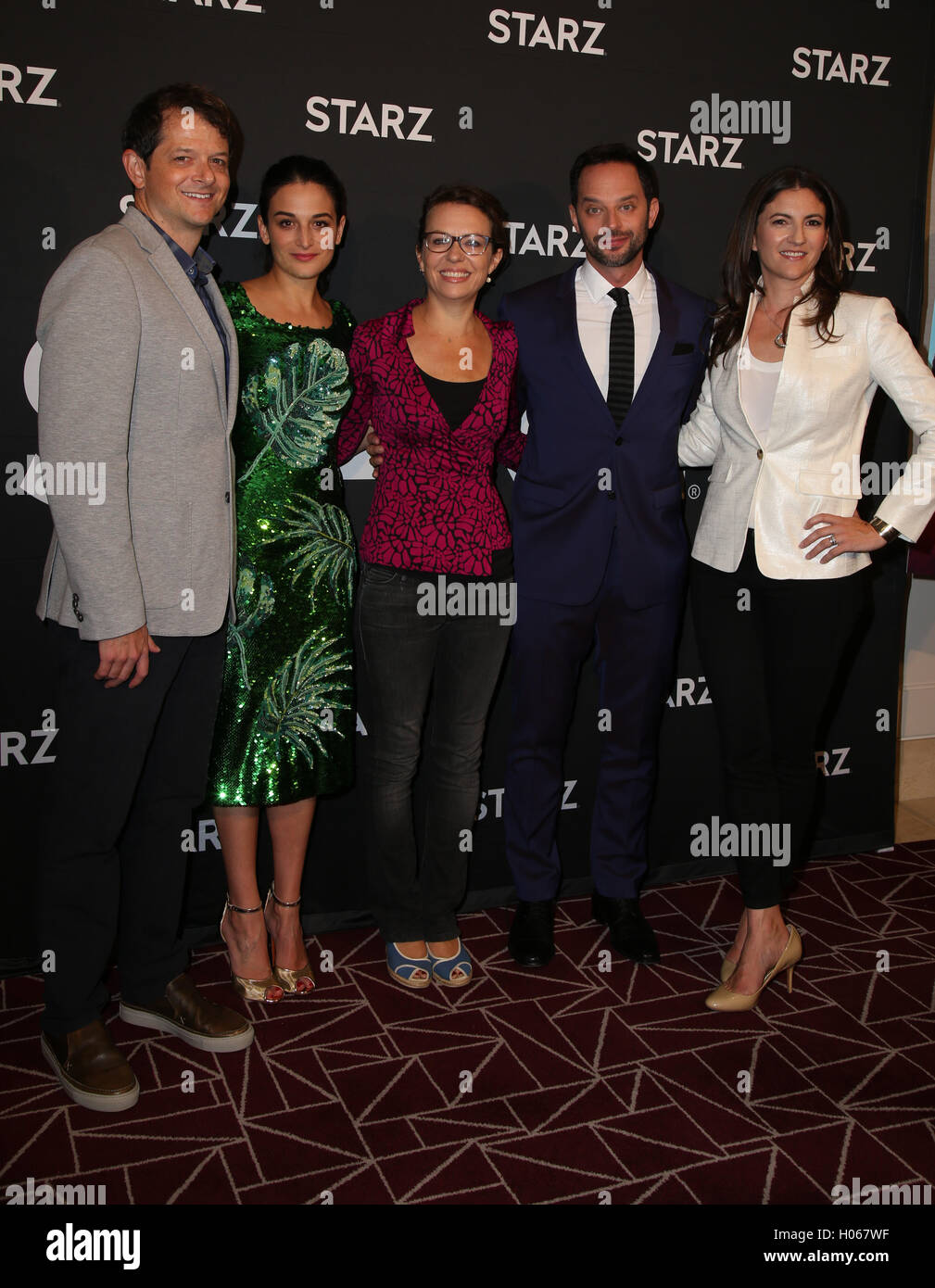 19th sep 2016 tyler davidson nick kroll jenny slate sophie goodhart tory tunnell attends the screening of starz digital medias my blind brother at