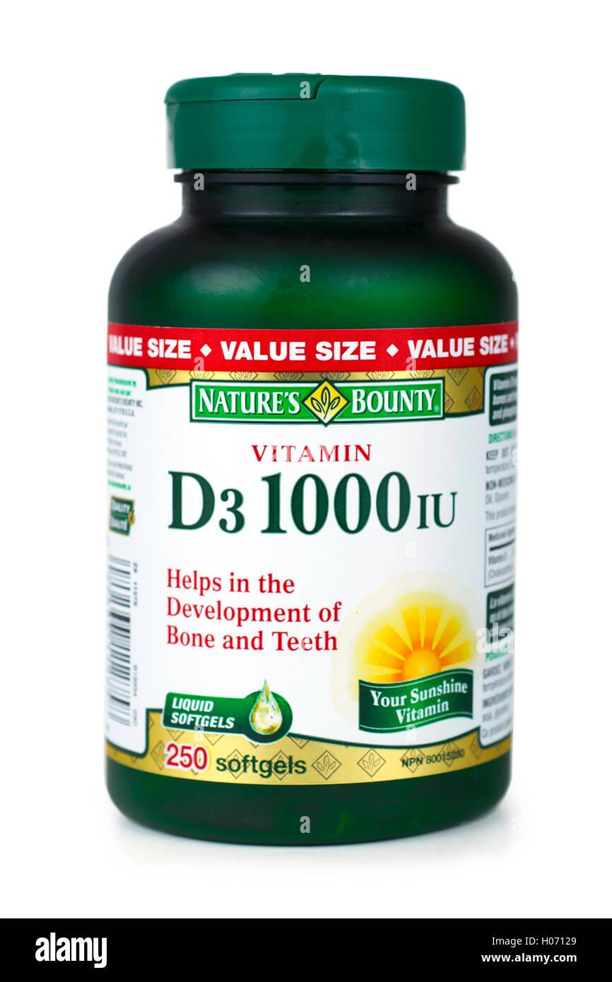 Vitamin D, D3 Vitamins - Stock Image