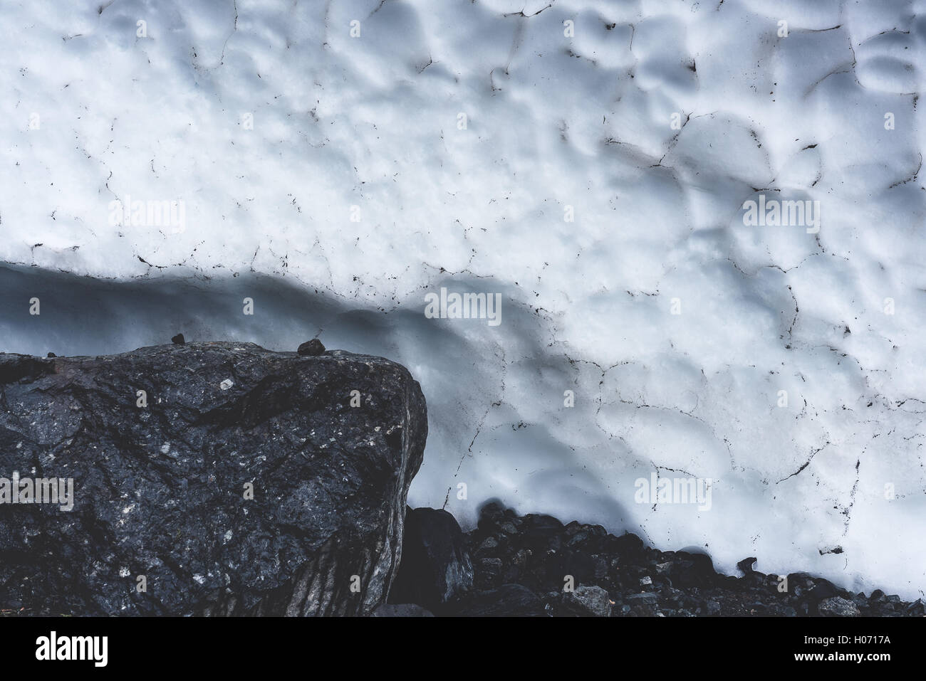 Big Four Ice Caves - Stock Image