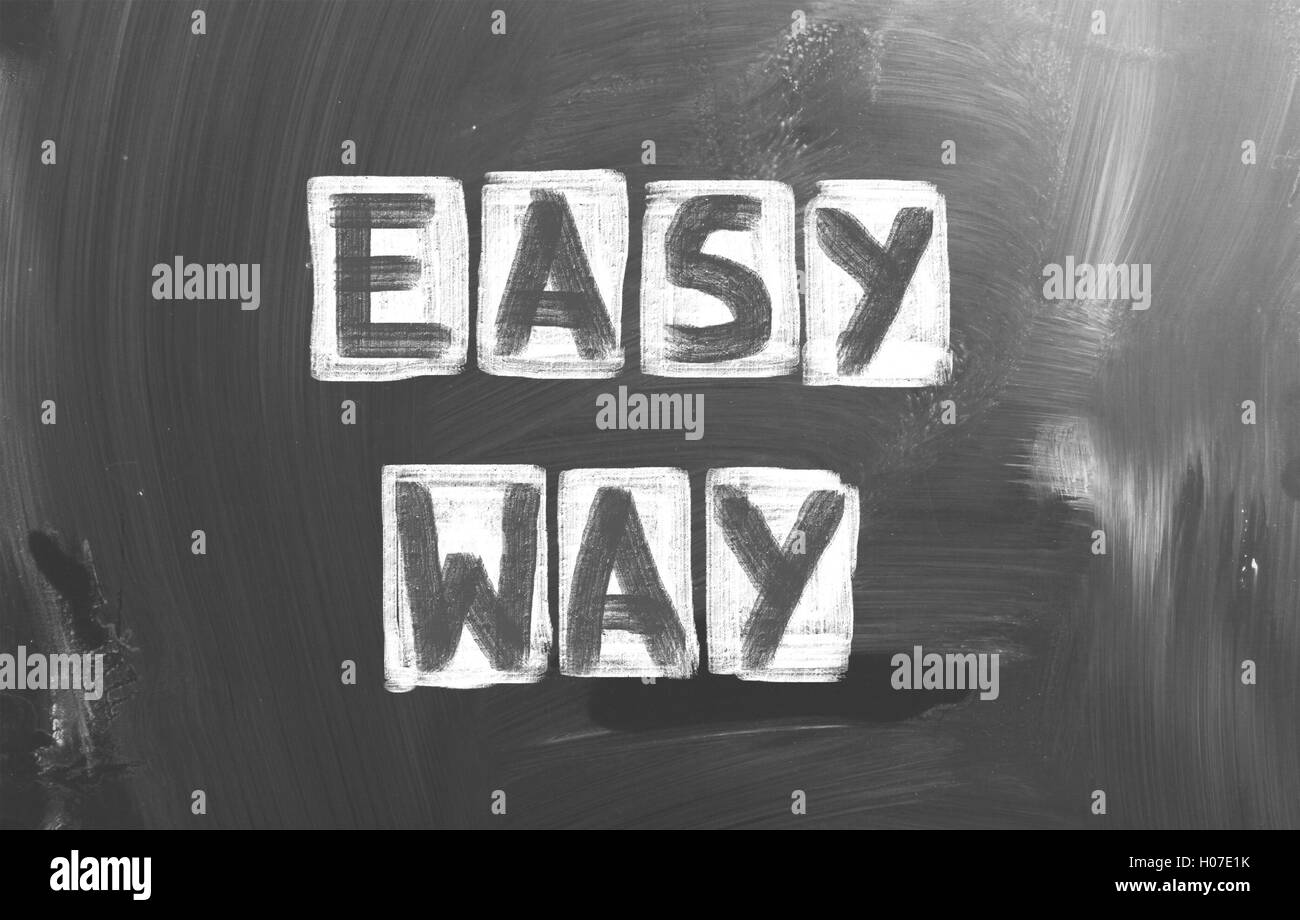 Easy Way Concept - Stock Image