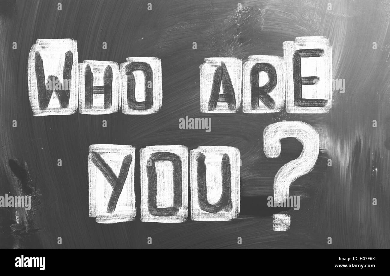 Who Are You Concept - Stock Image