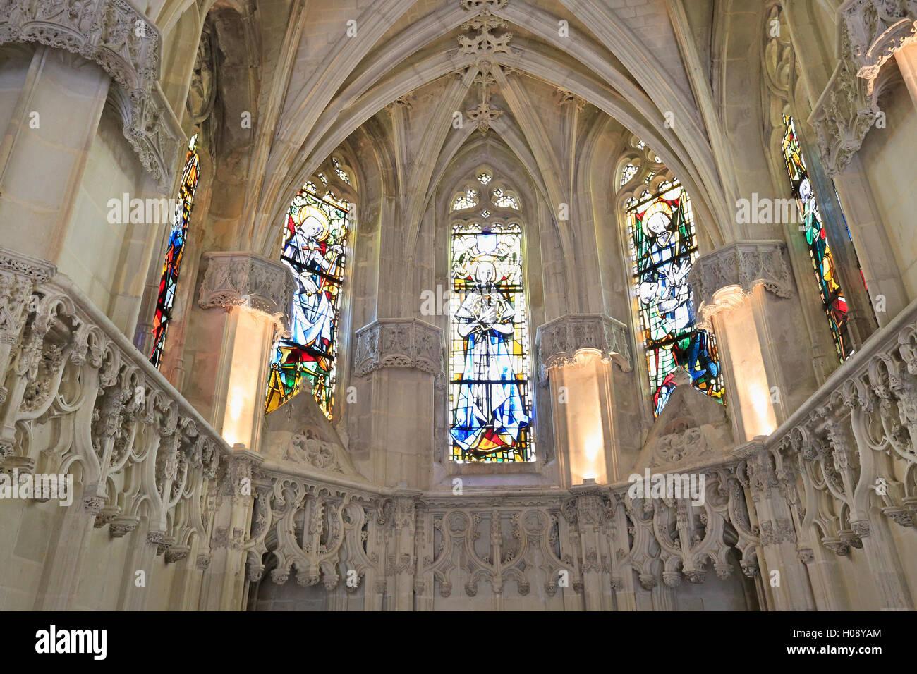 Leonardo da Vinci Chapel, Chateau Amboise on Loire Valley, France - Stock Image
