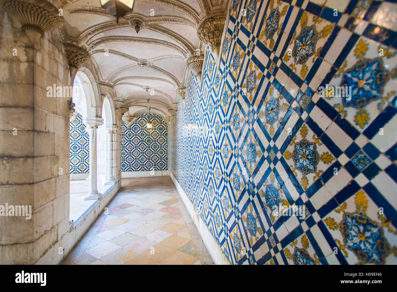 Walls covered in beautuful Azelejo tiles on display at The National ...