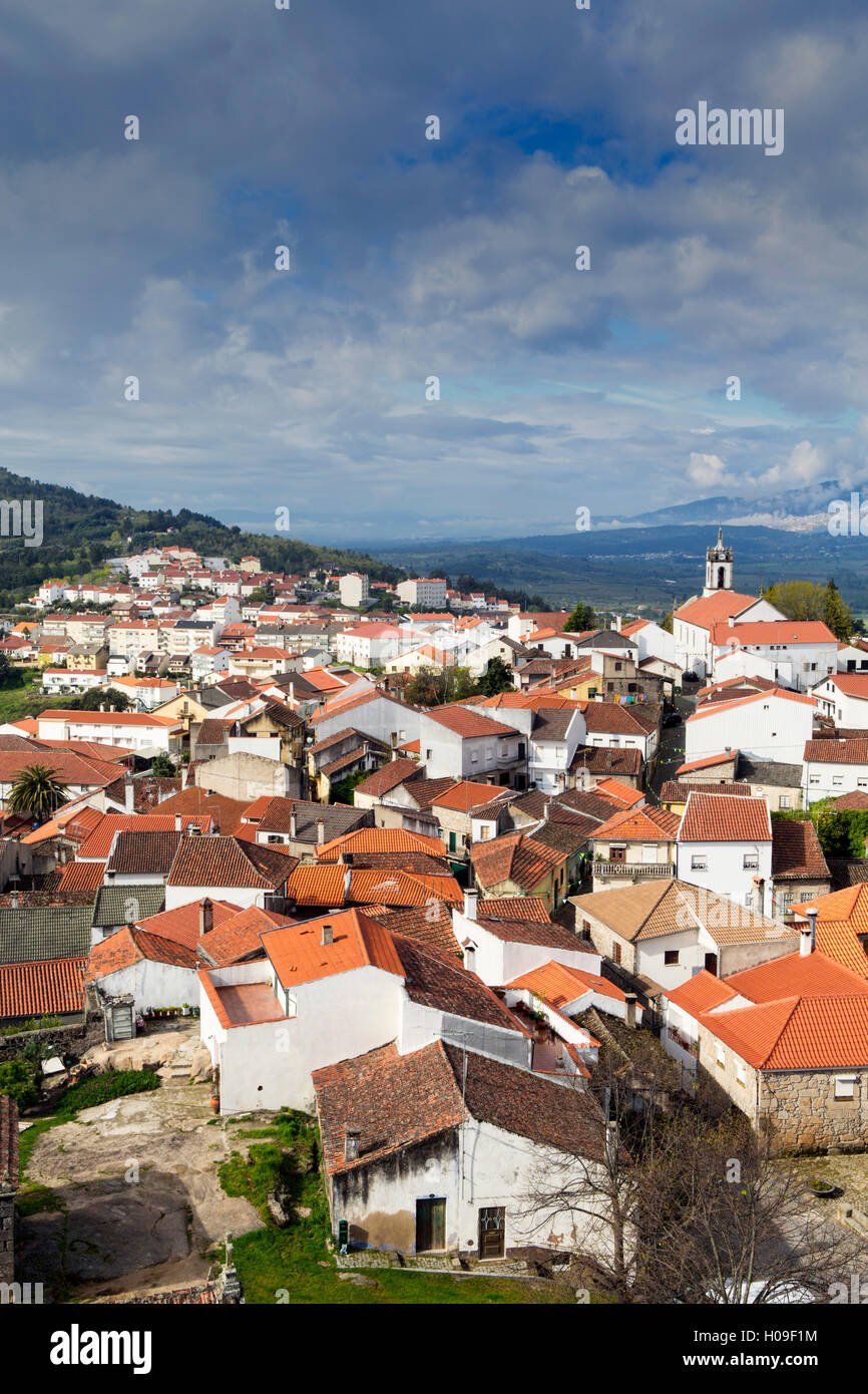 Belmonte, the birthplace of Pedro Alvares Cabral, European discoverer of Brazil, Portugal, Europe - Stock Image