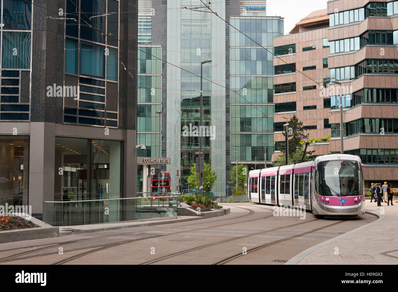 Tram system in Birmingham which runs from Birmingham to Wolverhampton, Birmingham, England, United Kingdom, Europe - Stock Image