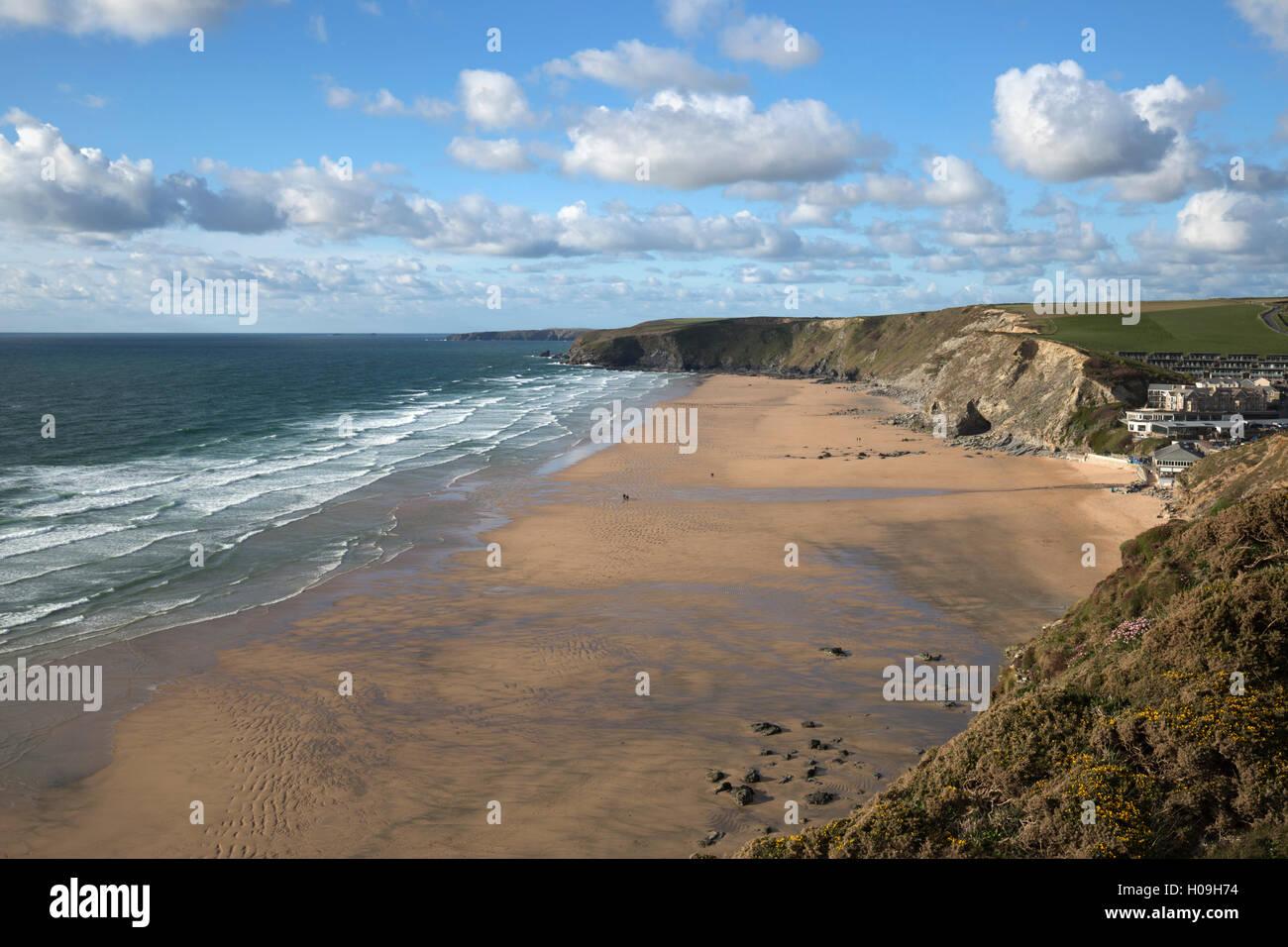 Watergate Bay, Newquay, Cornwall, England, United Kingdom, Europe - Stock Image