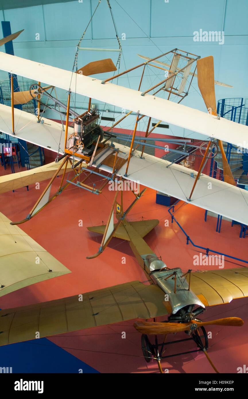 France, Seine-Saint-Denis (93),  Paris Le Bourget airport, musee de l'air de l'espace museum, first historic - Stock Image