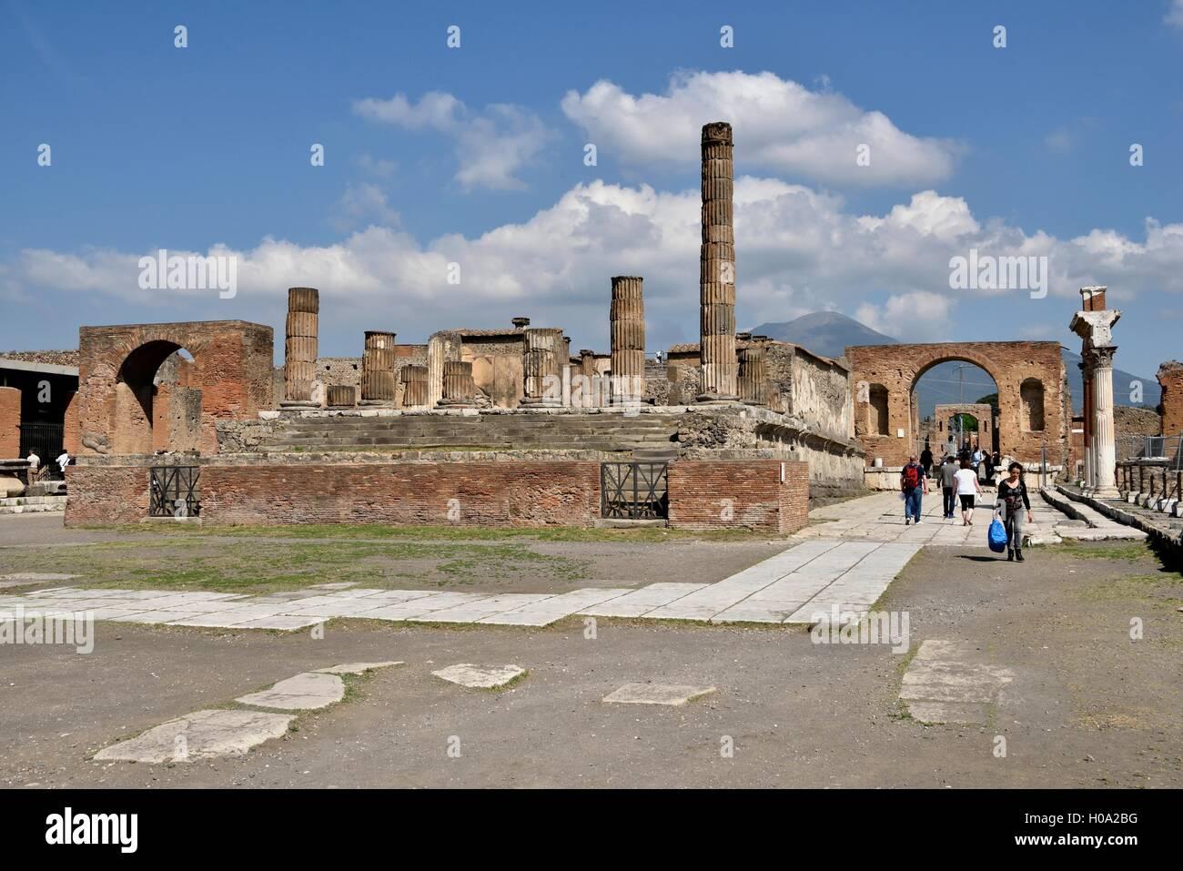 Forum, ancient city of Pompeii, Campania, Italy - Stock Image