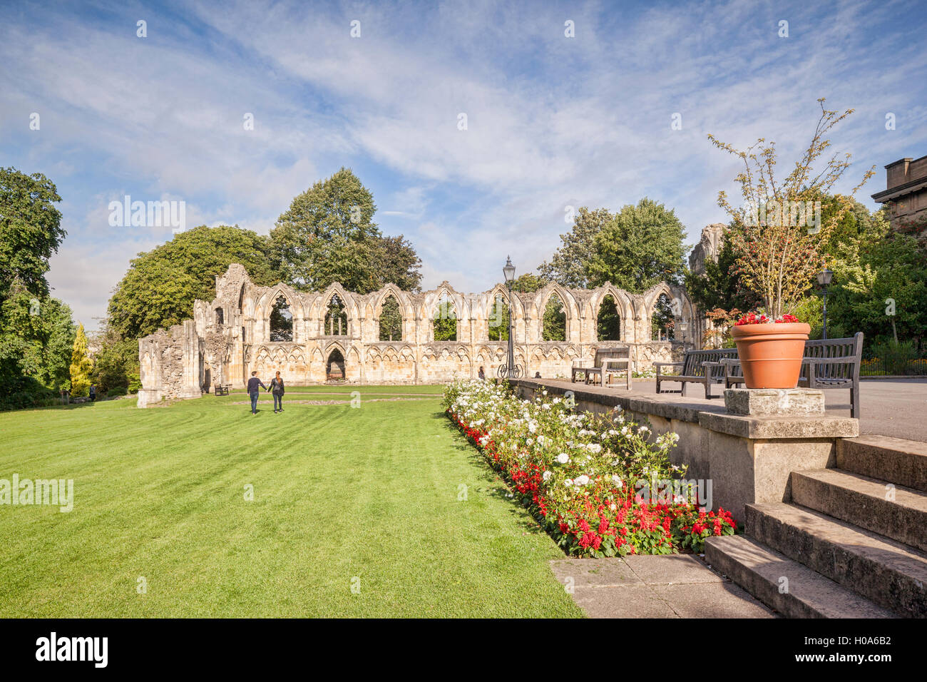 St Mary's Abbey, York, North Yorkshire, England, UK - Stock Image