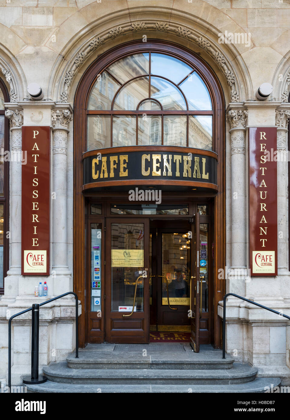 The famous Cafe Central on Herrengasse in the Innere Stadt, Vienna, Austria - Stock Image
