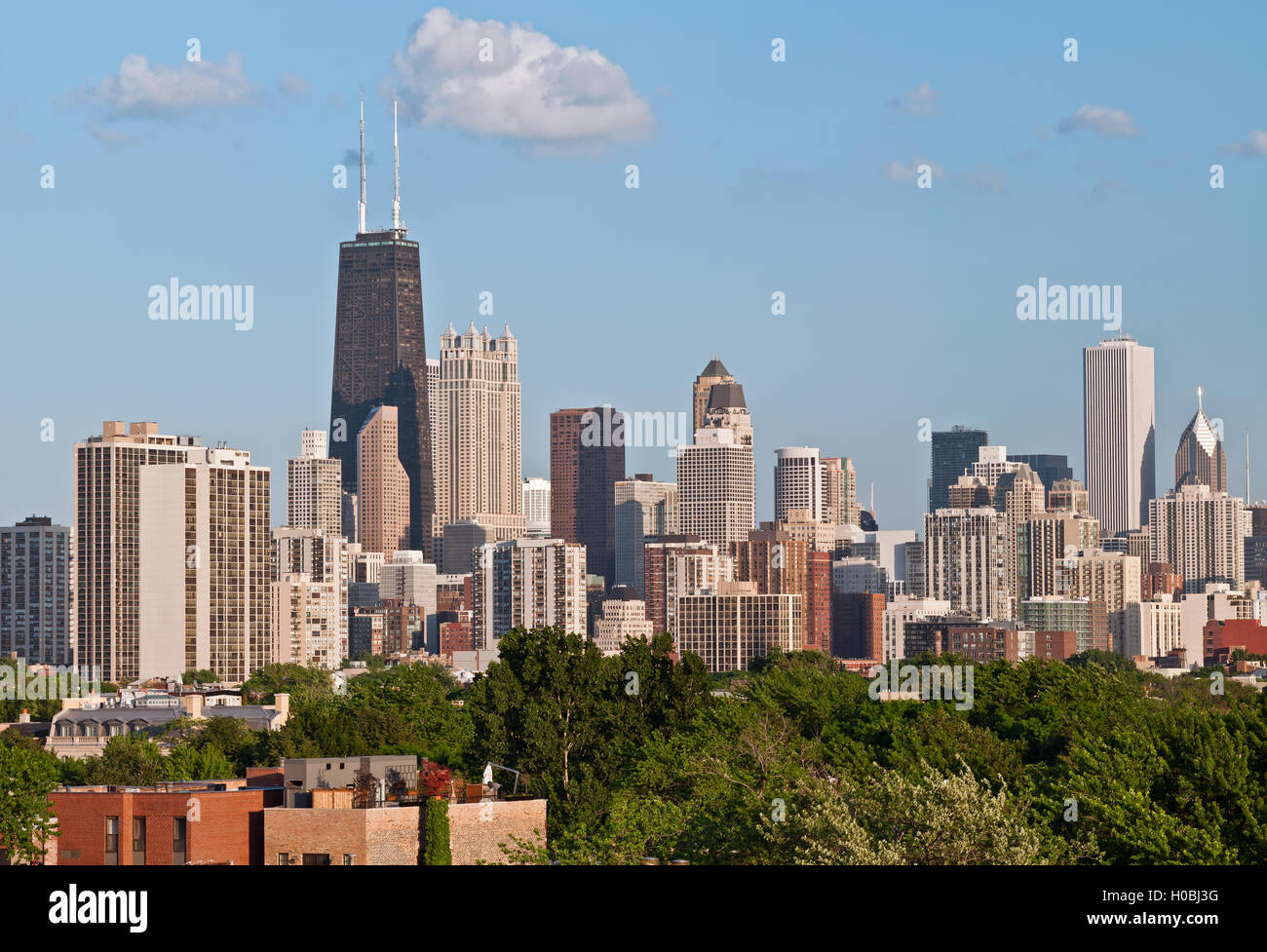Chicago. Image of the Chicago downtown district at late afternoon. - Stock Image