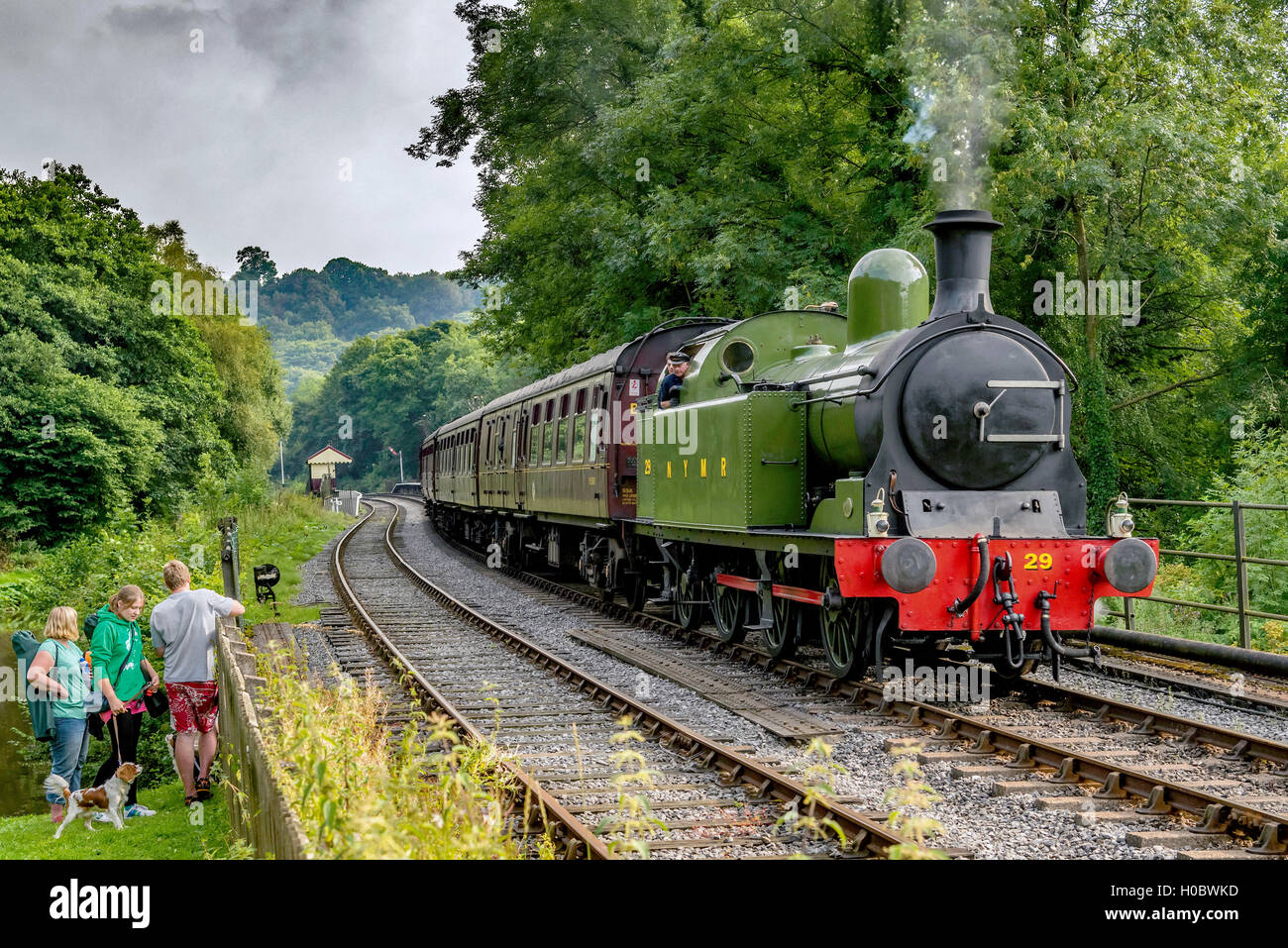 NYMR North Yorkshire Moors Railway Lambton tank engine Mnumber 29 pictured at Consall on the Churnet Valley Railway - Stock Image