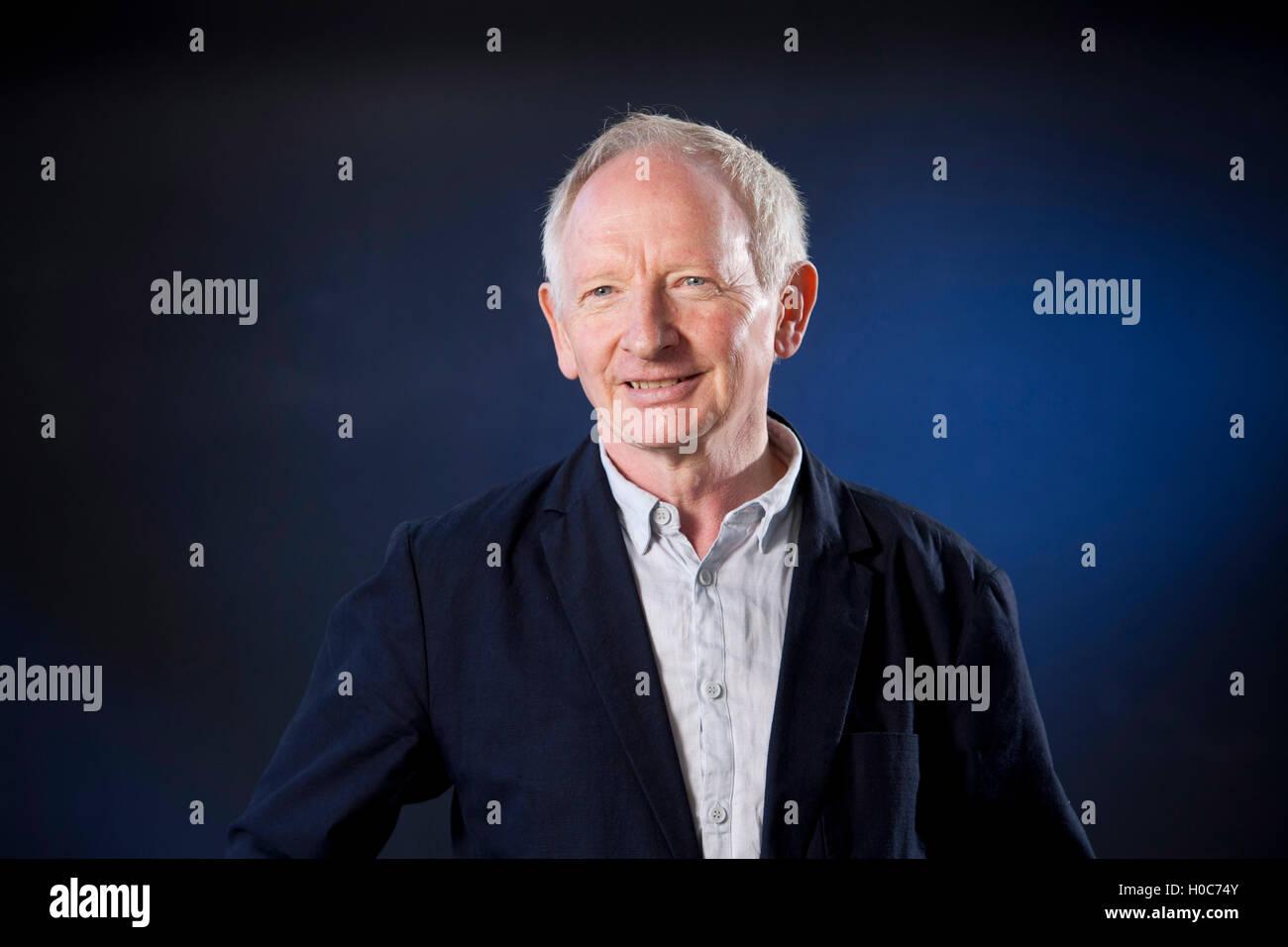 Alan Taylor, the Scottish journalist and author, at the Edinburgh International Book Festival. Edinburgh, Scotland. - Stock Image
