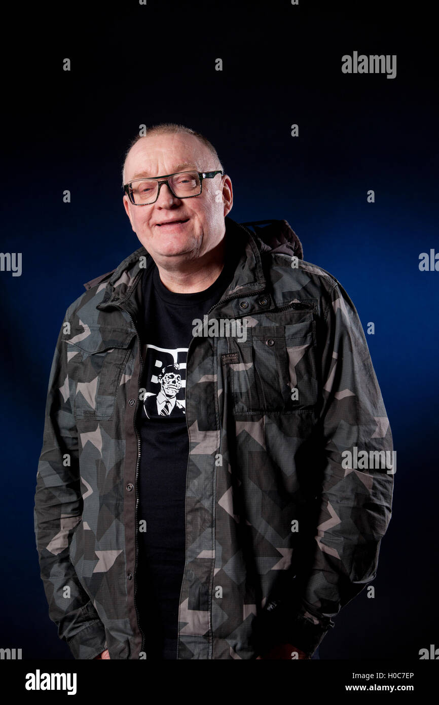 Stuart Cosgrove, the Scottish journalist, broadcaster and television executive, at the Edinburgh International Book - Stock Image