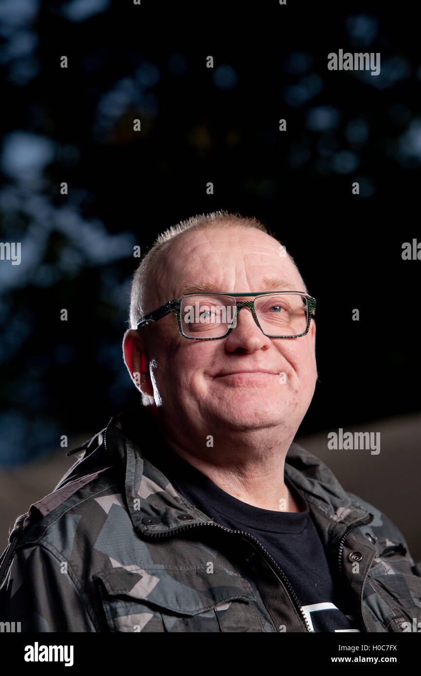 Stuart Cosgrove, the Scottish journalist, broadcaster and television executive, at the Edinburgh International Book Stock Photo