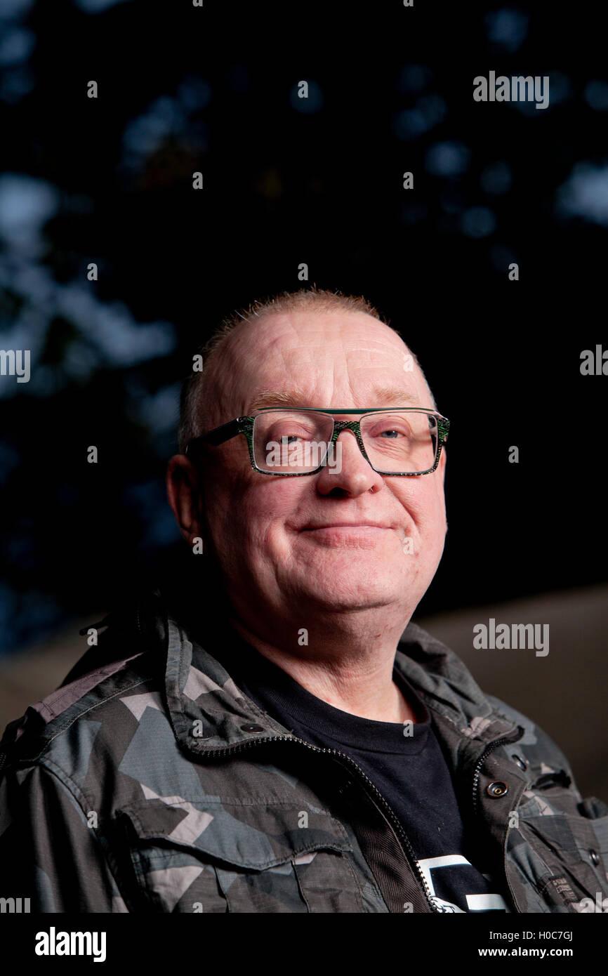 Stuart Cosgrove, the Scottish journalist, broadcaster and television executive, at the Edinburgh International Book Stock Photo