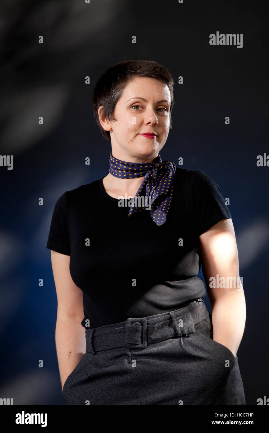 Megan Bradbury, the American author, at the Edinburgh International Book Festival. Edinburgh, Scotland. 26th August - Stock Image