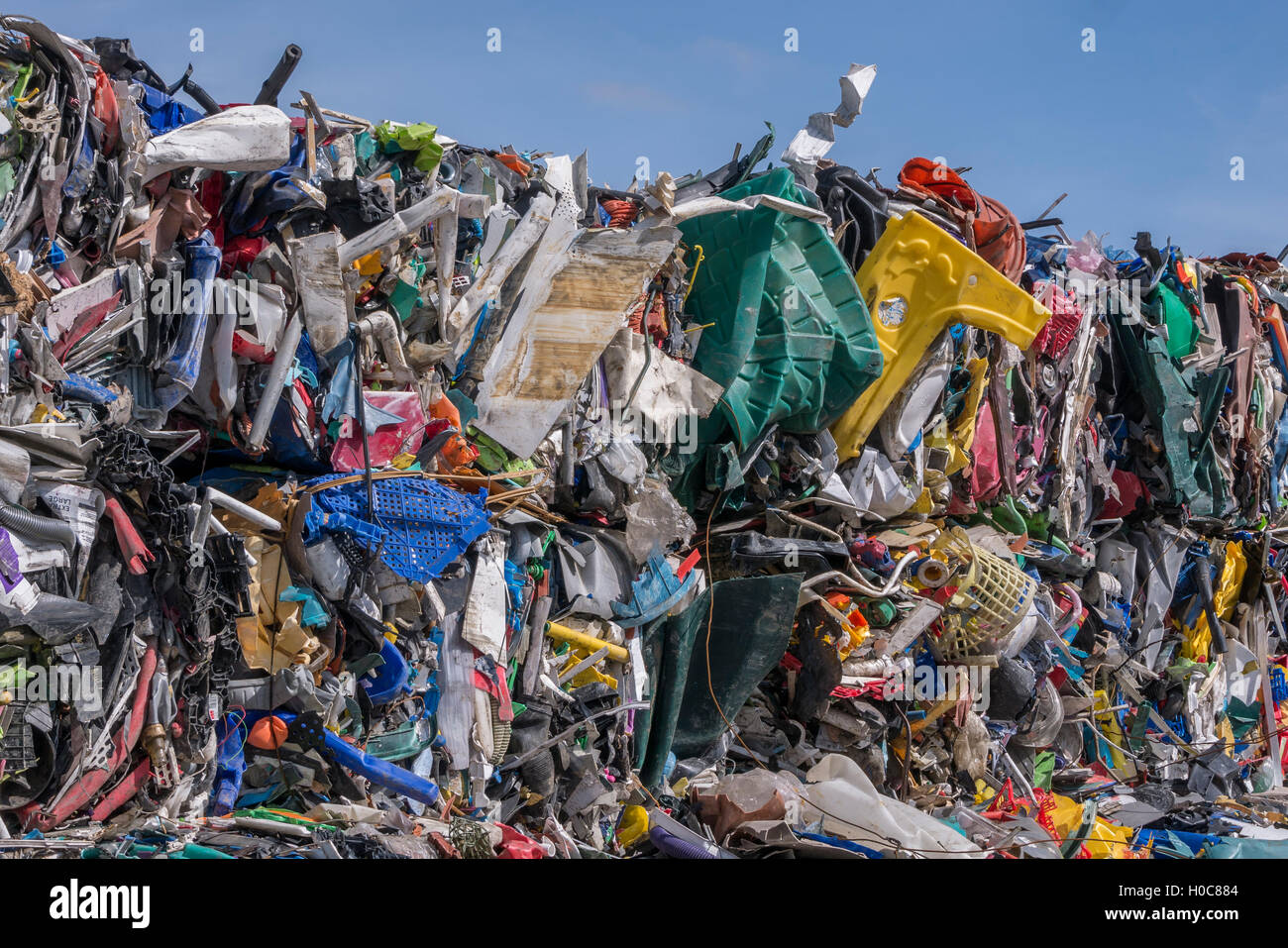 Recycle plastic rubbish - Stock Image