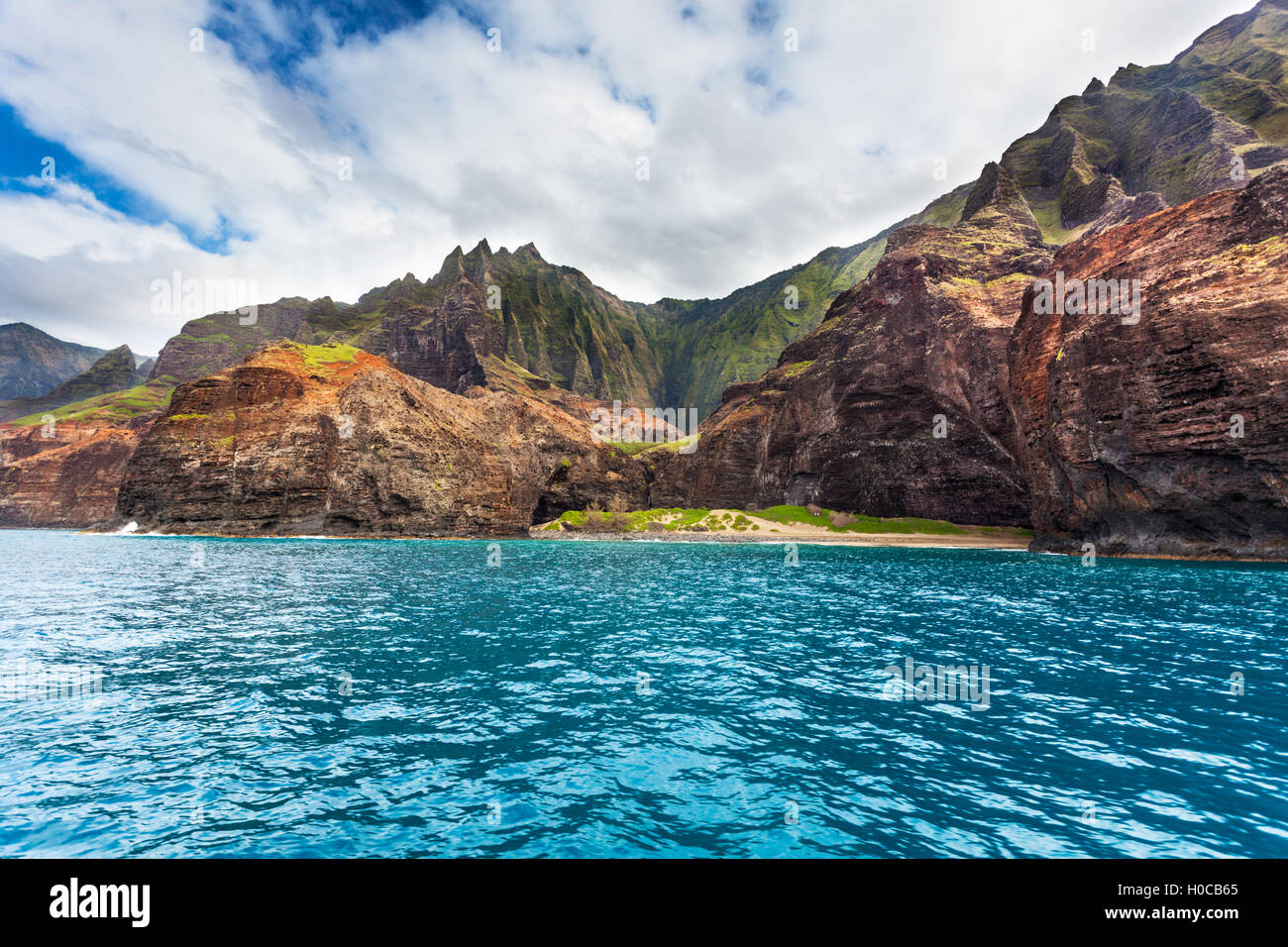 Honopu Beach, Kauai - Stock Image